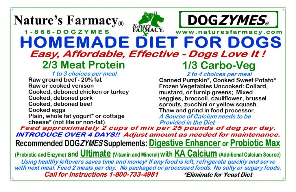 Nature's Pharmacy Homemade Diet For Dogs - Recipes